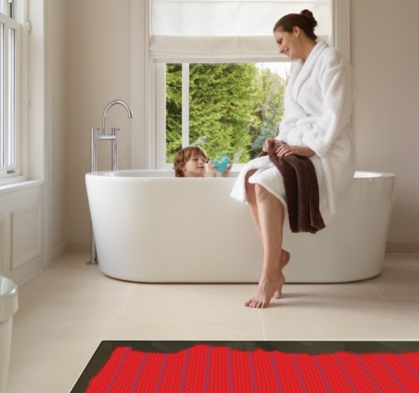 dcm-pro electric underfloor heating under bathroom tiles